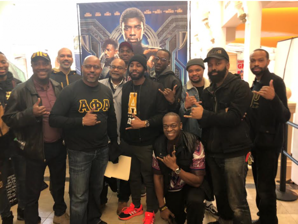 Fraternity Hosts Black Panther Screening For High School Students