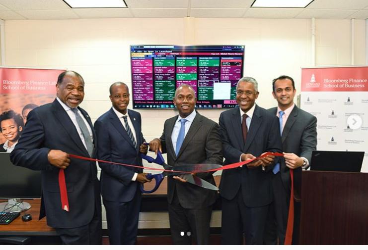 Howard Celebrates $250,000 Donation to Start New Bloomberg Finance Lab