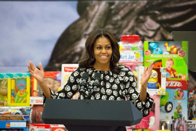 The First Lady Joins Marines to Give Back
