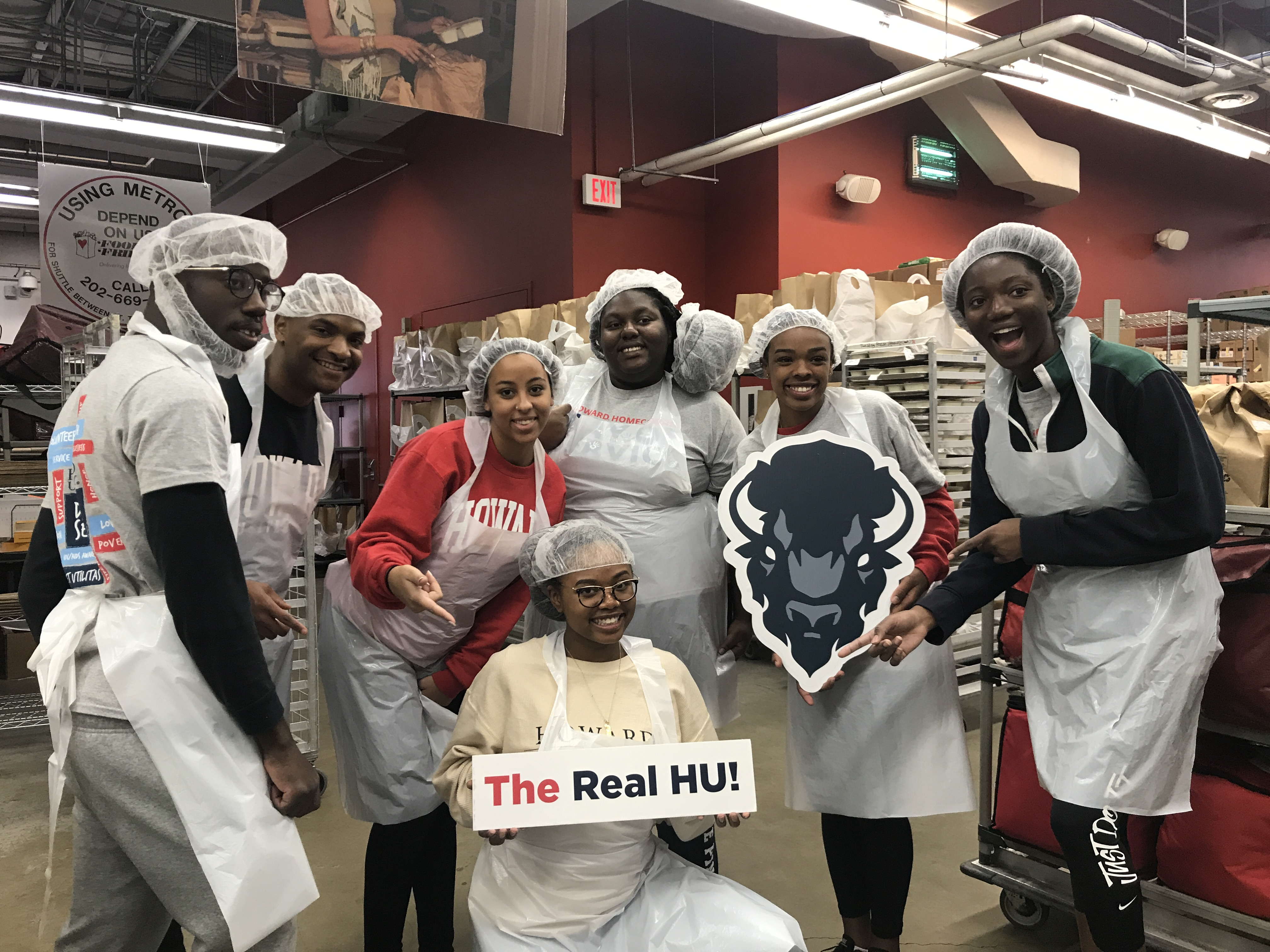 Howard Students Thankful for Homecoming Day of Service