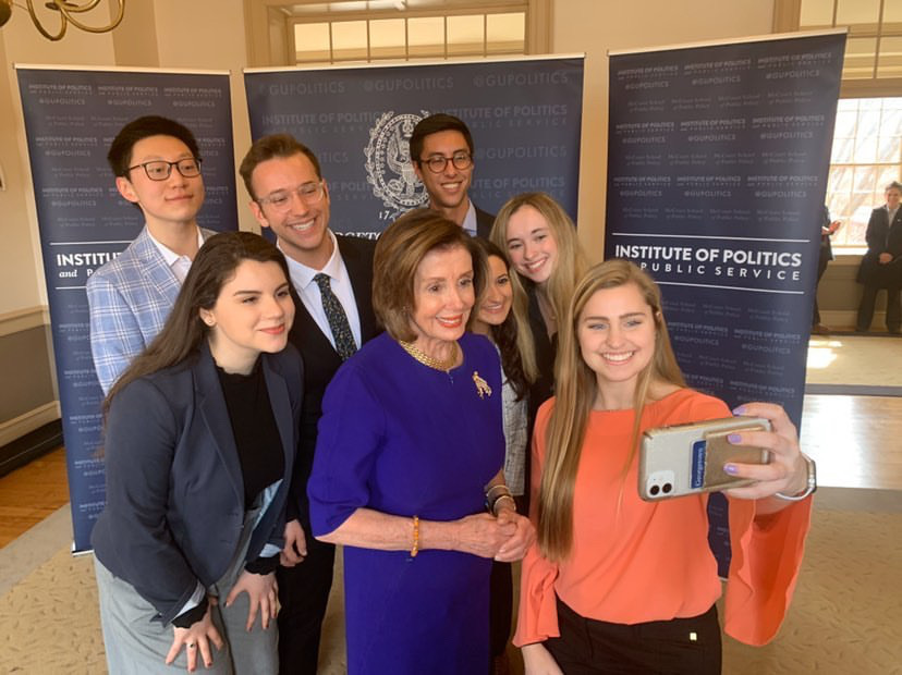 Nancy Pelosi Discusses Being a Woman In Politics at Georgetown University