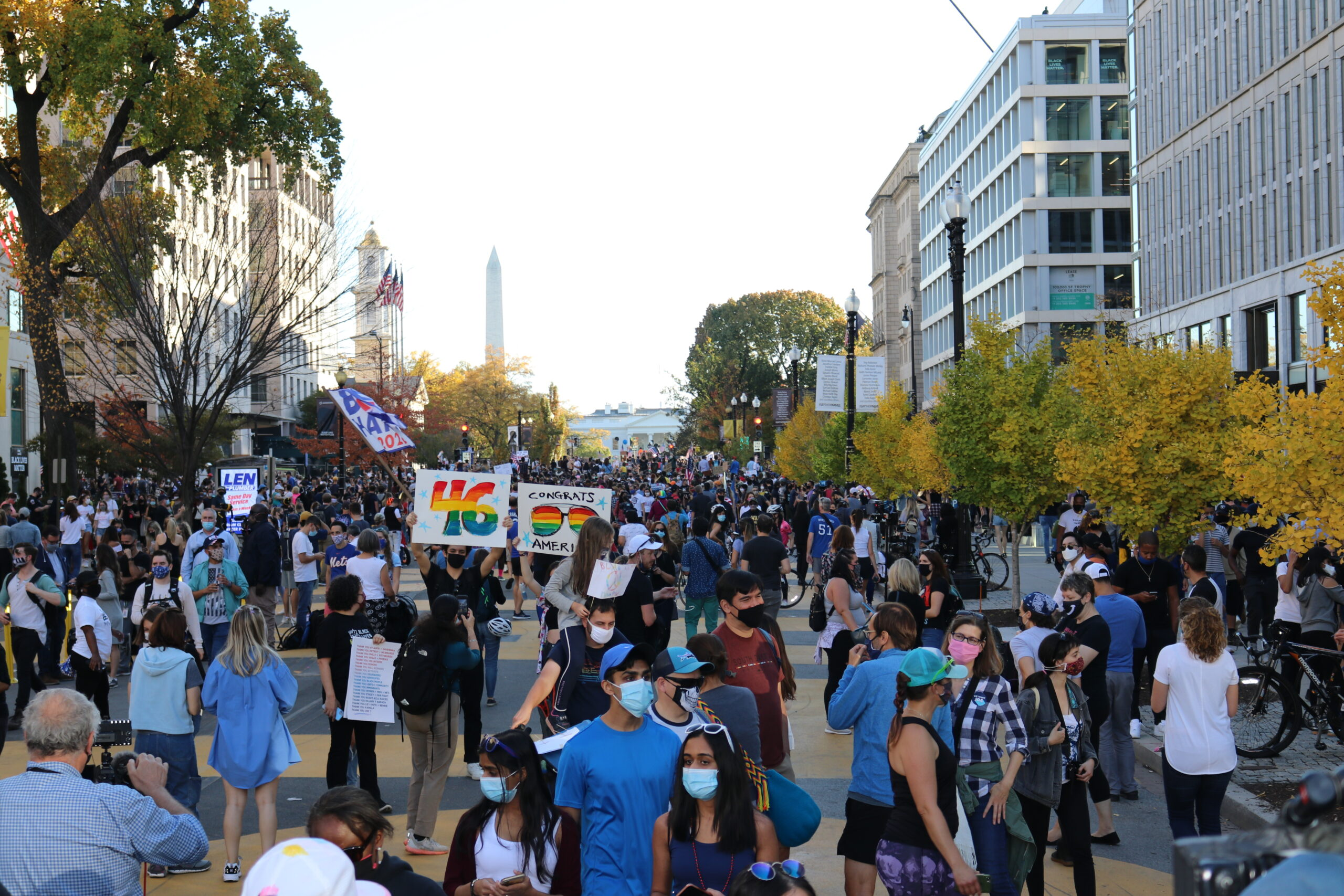 Celebrations Fill the Streets of Washington, DC to Celebrate Biden Win
